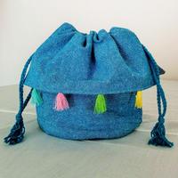 Kinchaku (Sky blue tassel)