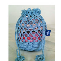 Mesh Kinchaku (Light blue)