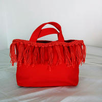 Fringe small tote (Red)