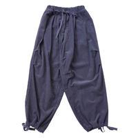 CORDUROY LOOSE WORK PANTS MENS【blue gray】