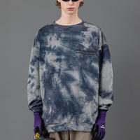 Tie dye big sweat【Gray】