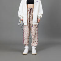 Flower line pants【White】