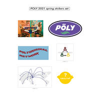 POLY 2021 SPRING COLLECTION sticker
