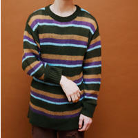 BORDER KNIT【GREEN】