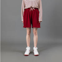 Knit half pants【Red】
