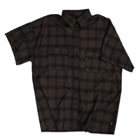 チェックshirt half【brown】