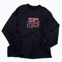 POLY PEACE LONG T 【BRACK】