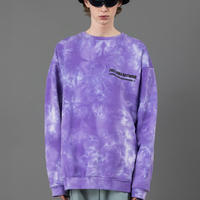 Tie dye big sweat【Purple】