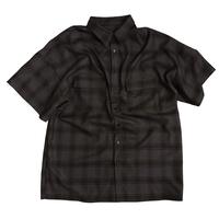 チェックshirt half【purple】