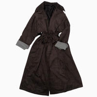 WIDE SLEEVE LONG COAT [BROWN]