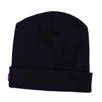 ニット帽子【black】