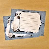 ME06 メッセージカード シャム猫