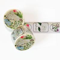 MT20 花のマスキングテープ