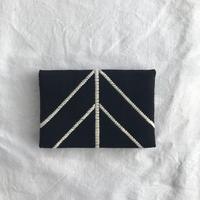 ㉜こぎん刺し カードケース leaf(黒)