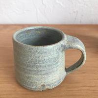 《送料込》吉永哲子 錆浅黄(サビアサギ) マグカップ  Y-4
