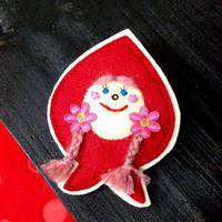 ぽんめのこ赤ずきんちゃんブローチB