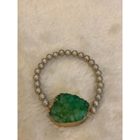 グリーン鉱石ブレスレット