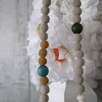 Lava stone necklace. Beige
