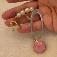 Pearl Agate Earring P