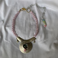Pink/Silver ネックレス アクアクォーツ