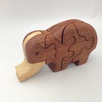 木の3Dパズル/ぞう