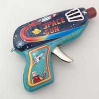 ブリキのおもちゃ『スペースガン』ネイビー&グリーン