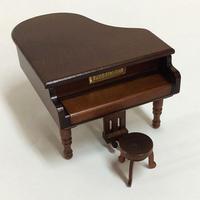 ミニアンティークオルゴール/グランドピアノ