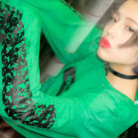 "HACKALL Long Sleeve T-shirts ""NEON GREEN"""