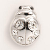 Lady Bug - Clear Silver