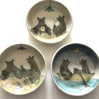 esouceramics / 蝙蝠の夜遊び皿