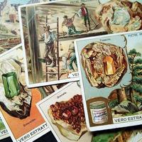 1904年 LIEBIG◆貴重な鉱物6種アンティーク・ビンテージカード
