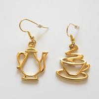 JJ / Jonette Jewelry company ティータイム ヴィンテージピアス ゴールド