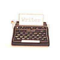 ライター・作家・文章を書くのが好きな方のためのバッジ/ブローチ タイプライター