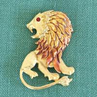 GRAZIANO ヴィンテージブローチ  ゴージャスなライオン