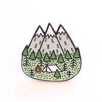キャンプ好きさんのためのバッジ/ブローチ