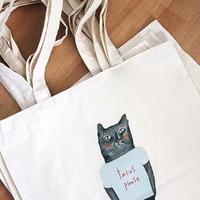 猫のコットントートバッグ