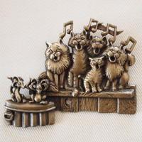 JJ ヴィンテージブローチ 猫のコーラス隊