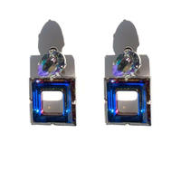 Square and drop pierce/earrings