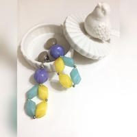 Italian acrylic beads pierce/earrings