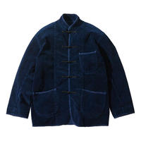 """CORDUROY CHINESE JACKET """"WATCH CHAIN ITEM"""" -BLUE-"""