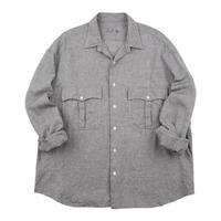 ROLL UP SHIJIRA STRIPE SHIRT -GRAY-