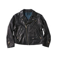 PC RIDERS JACKET (for LADY PC) W/LOVE & PEACE SILVER -BLACK-