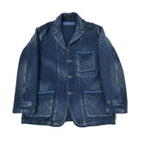 SASHIKO TAILORED JACKET -BLUE-