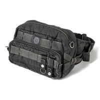 SUPER NYLON WAIST BAG -BLACK-