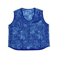PEELED CLOTH PULLOVER VEST - BLUE-