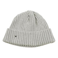 HAND WORK KNIT CAP -GRAY-