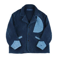 SASHIKO DROP OUT JACKET -BLUE-