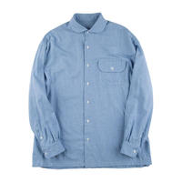 CASHMERE COTTON SHIRT FRENCH -BLUE-