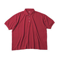 SUVIN GOLD BIG POLO SHIRT -RED-