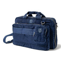 SUPER NYLON 3WAY BRIEFCASE -INDIGO BLUE-